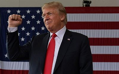 In this file photo taken on March 13, 2018, US President Donald Trump gestures after speaking to military personnel at Marine Corps Air Station Miramar in San Diego, California.(AFP Photo/Mandel Ngan/Alternative Crop)