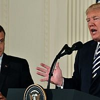 US President Donald Trump and French President Emmanuel Macron hold a joint press conference at the White House in Washington, DC, on April 24, 2018. (AFP PHOTO / Nicholas Kamm)