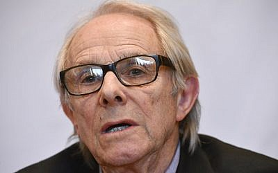 British film director Ken Loach takes part in a press conference to mark his receiving of the 'Doctor Honoris Causa' honorary degree of the ULB university, in Brussels, April 26, 2018. (AFP/Belga/Eric Lalmand)