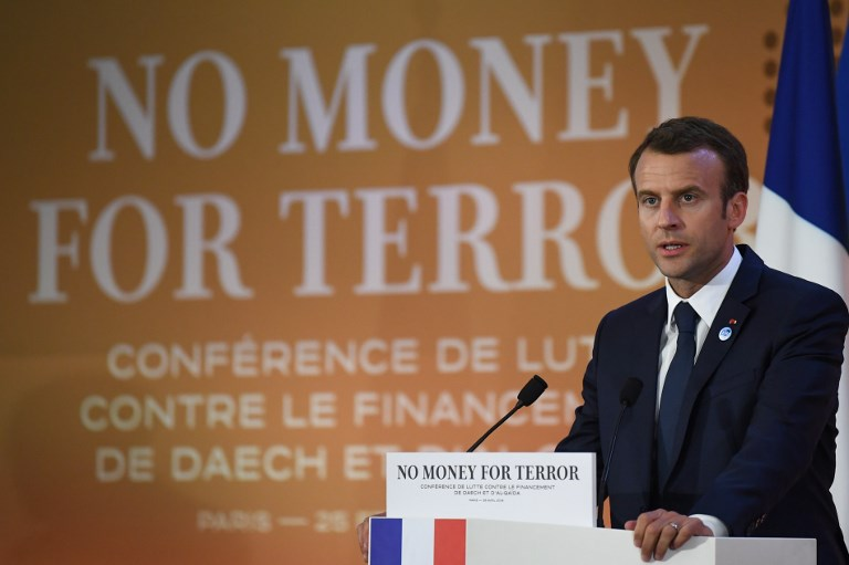 Macron Calls For Global Cooperation To Combat Terror Financing The Times Of Israel