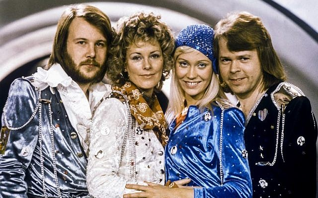 This picture taken in 1974, in Stockholm shows the Swedish pop group ABBA with its members (L-R) Benny Andersson, Anni-Frid Lyngstad, Agnetha Faltskog and Bjorn Ulvaeus posing after winning the Swedish branch of the Eurovision Song Contest with their song 'Waterloo.' (AFP Photo/ TT News Agency/Olle Lindeborg)