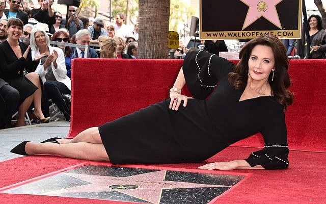 Lynda Carter attends a ceremony honoring her with the 2,632nd star on the Hollywood Walk of Fame on April 3, 2018, in Hollywood, California.  (Alberto E. Rodriguez/Getty Images/AFP)