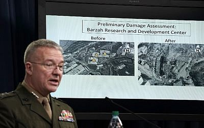 US Marine Lt. Gen. Kenneth F. McKenzie Jr. speaks during a news briefing at the Pentagon April 14, 2018 in Arlington, Virginia. The Pentagon held a briefing on the latest development of the strike in Syria.  (Alex Wong/Getty Images/AFP)