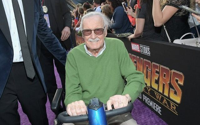 Producer-writer Stan Lee attends the Los Angeles Global Premiere for Marvel Studios' Avengers: Infinity War on April 23, 2018 in Hollywood, California. (Charley Gallay/Getty Images for Disney/AFP)