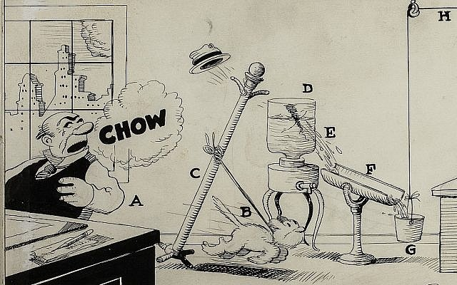 'Professor Butts' invention by Rube Goldberg. (Courtesy Contemporary Jewish Museum)