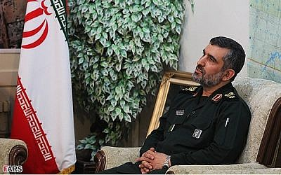 The head of the Iranian Revolutionary Guard Corps' Air Force Brig. Gen. Amir Ali Hajizadeh