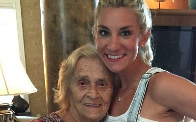 Dana Rogozinski (right) with her grandmother Ella Lucak Rogozinski in 2015. (Courtesy)