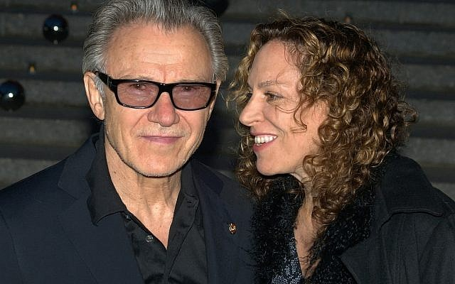 Harvey Keitel, who will star in a film adaptation of the Meir Shalev novel, 'Esau,' here with his wife, Daphna Kastner, whom he secretly married in Israel during the Haifa International Film Festival (David Shankbone/CC BY 3.0)