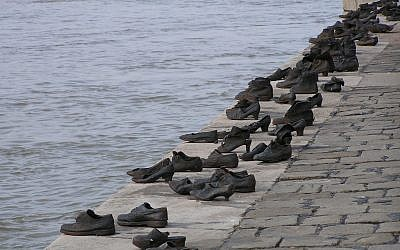 Shoes on the Danube, a Holocaust memorial to victims of the Arrow Cross who were shot on the bank of the river Danube in Budapest during the Holocaust. (Flickr/Neil)