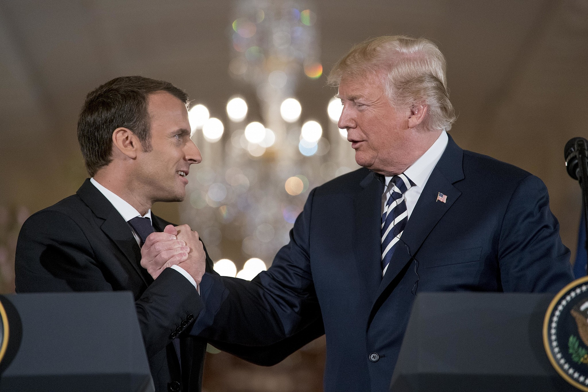 Macron believes Trump will 'get rid' of Iran deal to please his base | The  Times of Israel