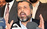 Ramadan Shalah, Head of Islamic Jihad, at a press conference in Damascus on Saturday December 16, 2006 (AP Photo Bassem Tellawi).