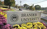 A sign marks the entrance of Brandeis University in Waltham, Massachusetts., October 20, 2010. (Josh Reynolds/AP/File)
