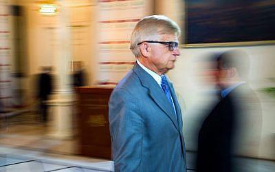 Russian Ambassador in Lebanon Alexander Zasypkin in Beirut, Lebanon, May 16, 2016. (Hassan Ammar/AP)