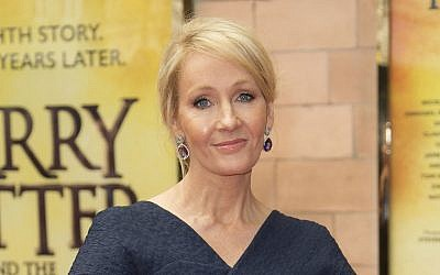 In this July 30, 2016, photo, writer J.K. Rowling poses for photographers upon arrival at gala performance of 'Harry Potter and the Cursed Child,' in central London. (Joel Ryan/Invision/AP)