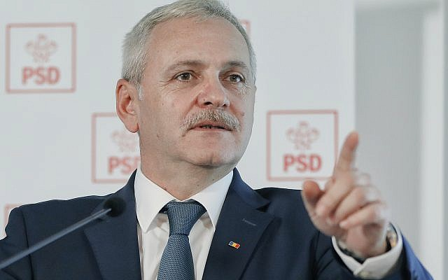In this file photo taken on December 7, 2016, Liviu Dragnea, the leader of the Social Democratic party, attends a press conference in Bucharest, Romania. (AP Photo/Vadim Ghirda, File)