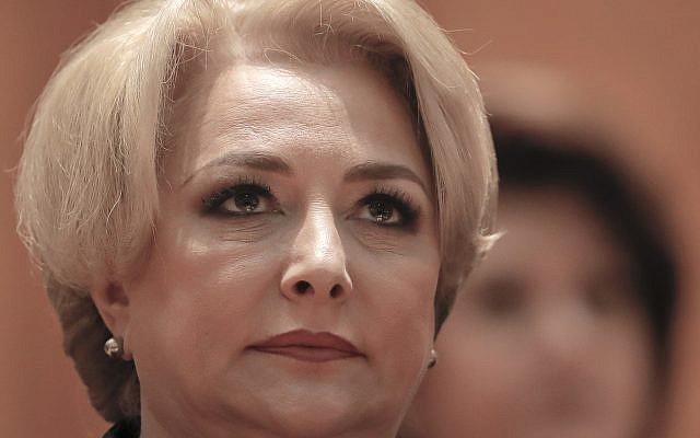 Romanian Prime Minister Viorica Dancila (AP Photo/Vadim Ghirda)