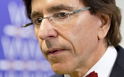 Belgium's then-prime minister Elio Di Rupo attends the Nuclear Security Summit (NSS) in The Hague, Netherlands, March 24, 2014. (AP Photo/Freek van den Bergh, Pool)