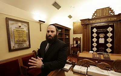 Rabbi Menachem Margolin, head of the European Jewish Association. (AP Photo/Petr David Josek)