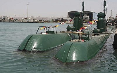 Iran's Ghadir submarines are seen in the southern port of Bandar Abbas in Persian Gulf, Iran, August 8, 2010. (AP Photo/Iranian Defense Ministry, Vahid Reza Alaei/File)