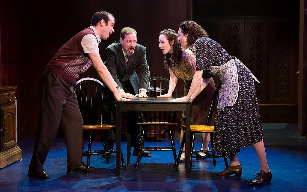 Aaron Galligan-Stierle, Jim Stanek, Megan McGinnis, and Amie Bermowitz in 'Goldstein, the Musical.' (Jeremy Daniel)