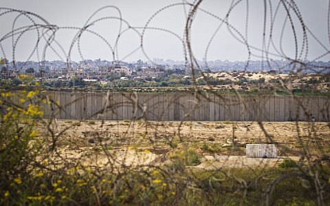 View of the Gaza Strip from the Israeli side of the security fence on November 5, 2016. (Doron Horowitz/Flash90)