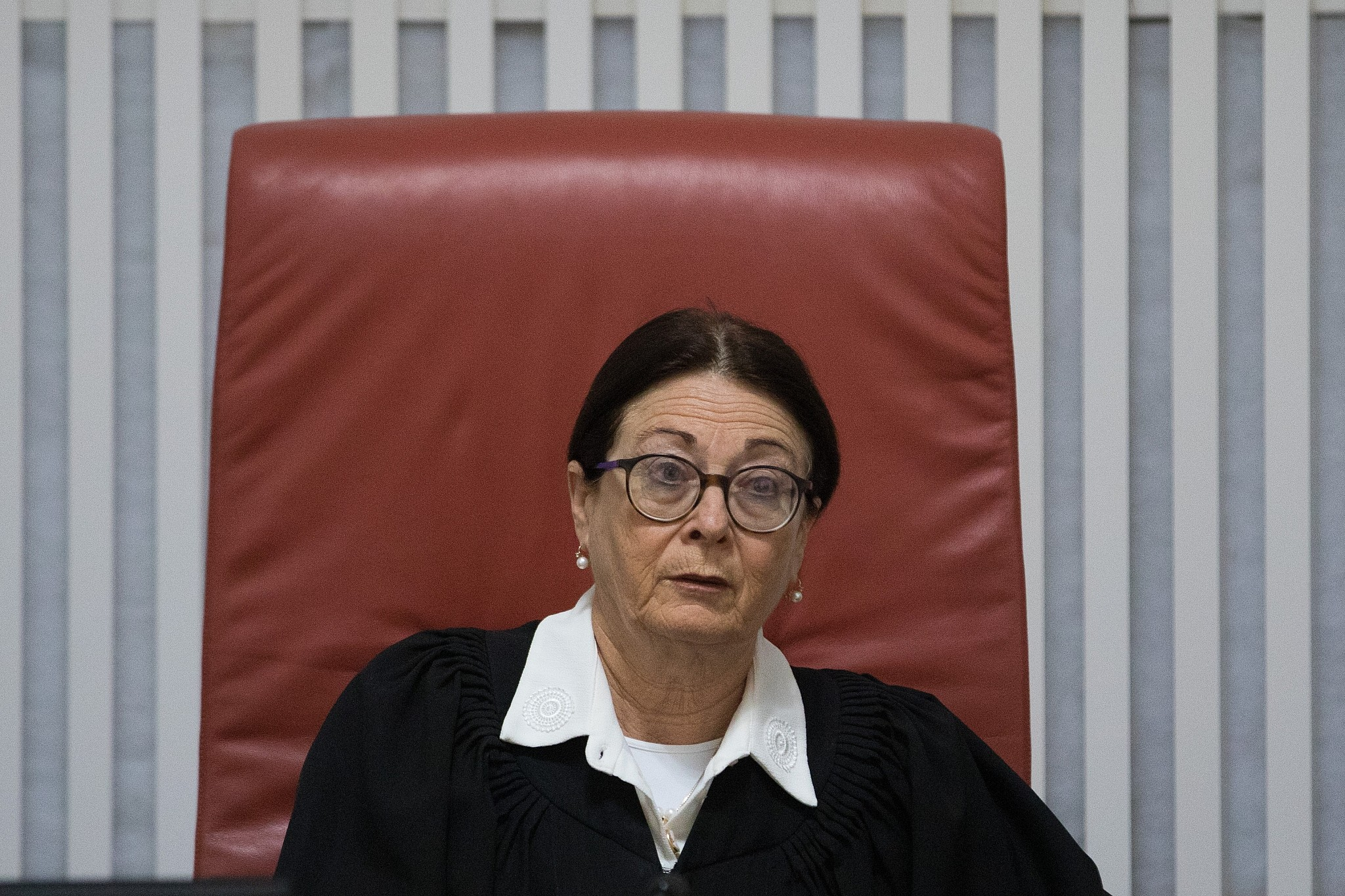 High court state must free jailed migrants if ag doesnt okay supreme court president esther hayut arrives for a court hearing on the deportation of african asylum stopboris Images