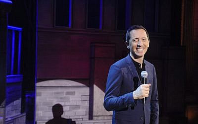 Gad Elmaleh performing during his new Netflix special, 'American Dream.' (Netflix)