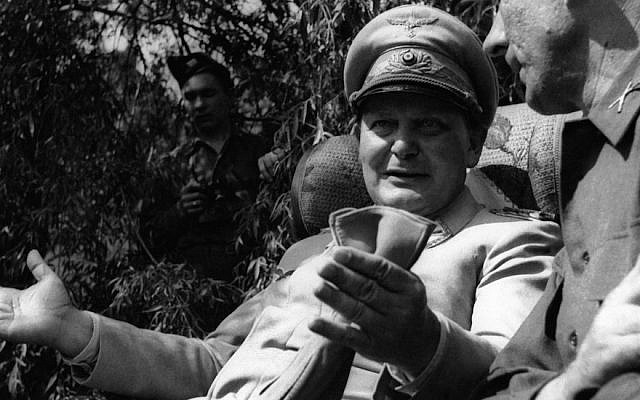 Hermann Goering speaking with a foreign journalist in his private garden in Augsburg , Germany, May 13, 1945. (Getty Images via JTA)