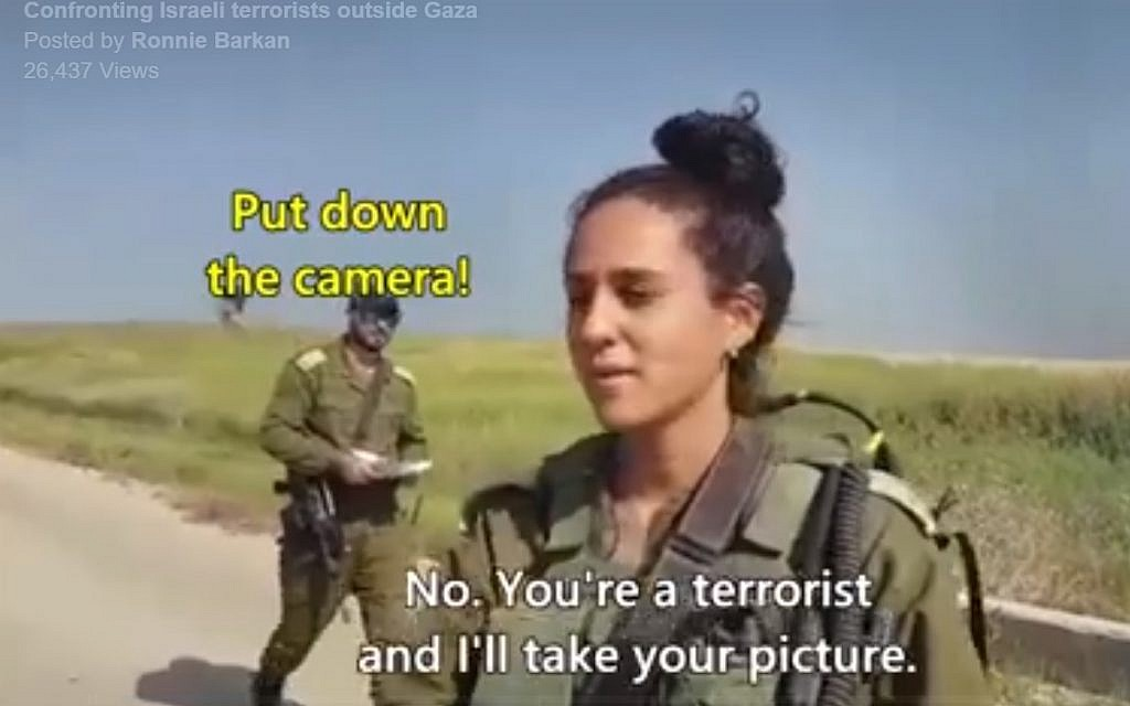 Left-wing activists accost IDF soldiers near Gaza, call them ...
