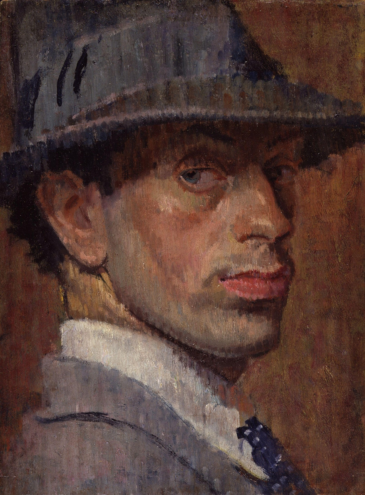 A self-portrait by Isaac Rosenberg. (Public domain)