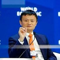 Alibaba founder Jack Ma speaks during the annual meeting of the World Economic Forum in Davos, Switzerland, January 24, 2018. (AP Photo/Markus Schreiber)
