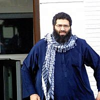 Mohammed Haydar Zammar leaves a mosque in Germany on Oct. 3, 2001. (Knut Mueller/Der Spiegel via AP)