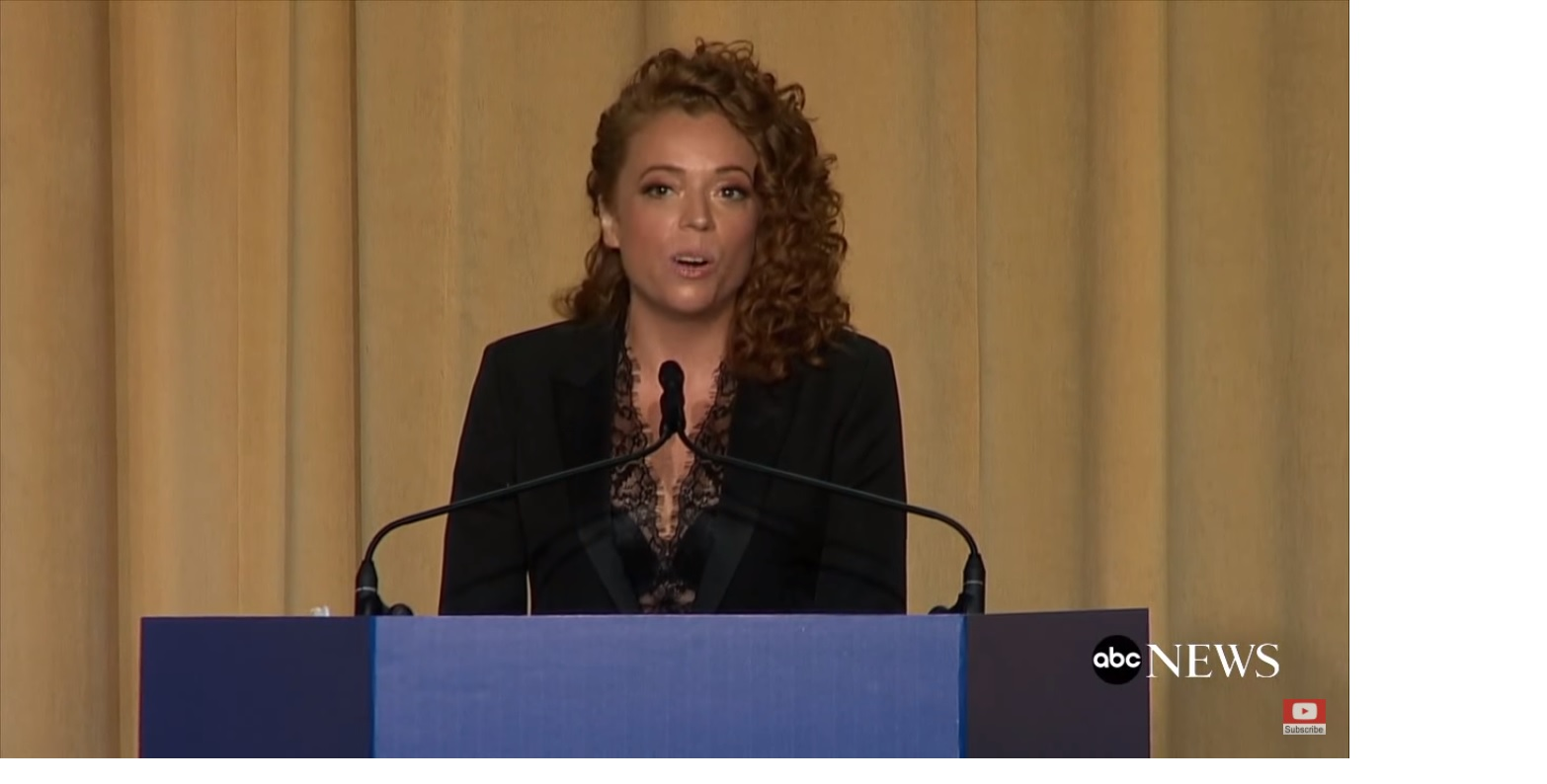 3516a1e722c Screen capture from video of comedian Michelle Wolfe during the White House  correspondents  dinner