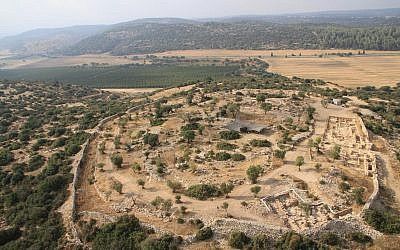 The fortified city of Khirbet Qeiyafa, that indicates urban society in Judah at the time of King David, according to Prof. Yosef Garfinkel, Head of the Institute of Archaeology, Hebrew University. (courtesy)