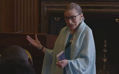 Ruth Bader Ginsburg has attained pop culture icon status in the last decade. (Courtesy of Magnolia Pictures/via JTA)