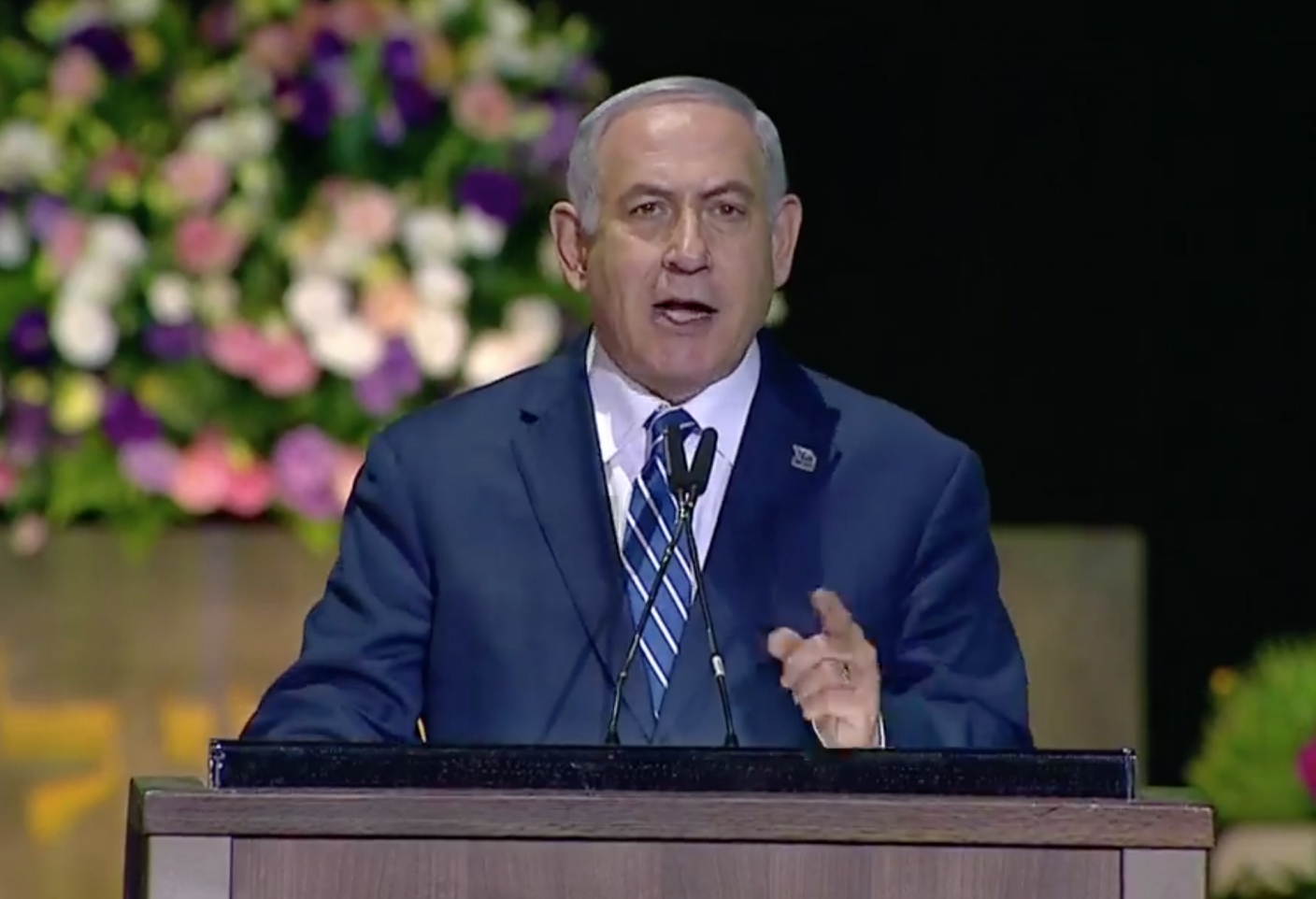 Israel's Netanyahu calls for action against Iran at 70th Independence Day