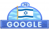 Google Doodle celebrates Israel's 70th Independence Day, April 19, 2018 (Google screenshot)