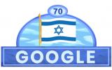 Google Doodle celebrates Israel's 70th Independence Day, April 19, 2018 (Google screenshot)