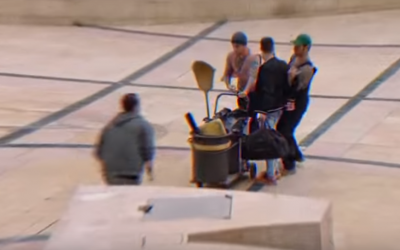 A screenshot showing undercover agents arresting a suspect from a recruitment video released by the Shin Bet security agency. (Screen capture: YouTube)