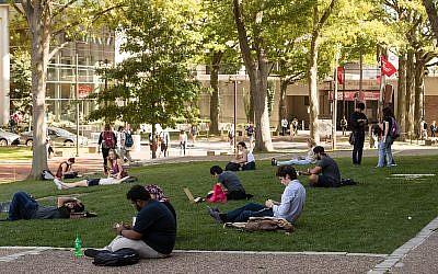 Illustrative photo of students on the Temple University campus in Philadelphia, Tuesday, Oct. 10, 2017. (AP Photo/Matt Rourke)