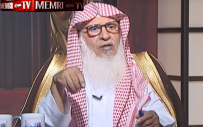 Saudi scholar Sheikh Saad ibn Abdullah Al-Humayd during an interview aired on the Saudi Wesal TV channel on March 21, 2018. (Screen capture: YouTube/MEMRI)