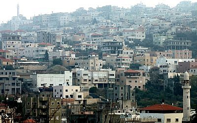 View of Israel's largest Arab city Umm El-Fahm, December 31, 2011. Photo by Moshe Shai/Flash90