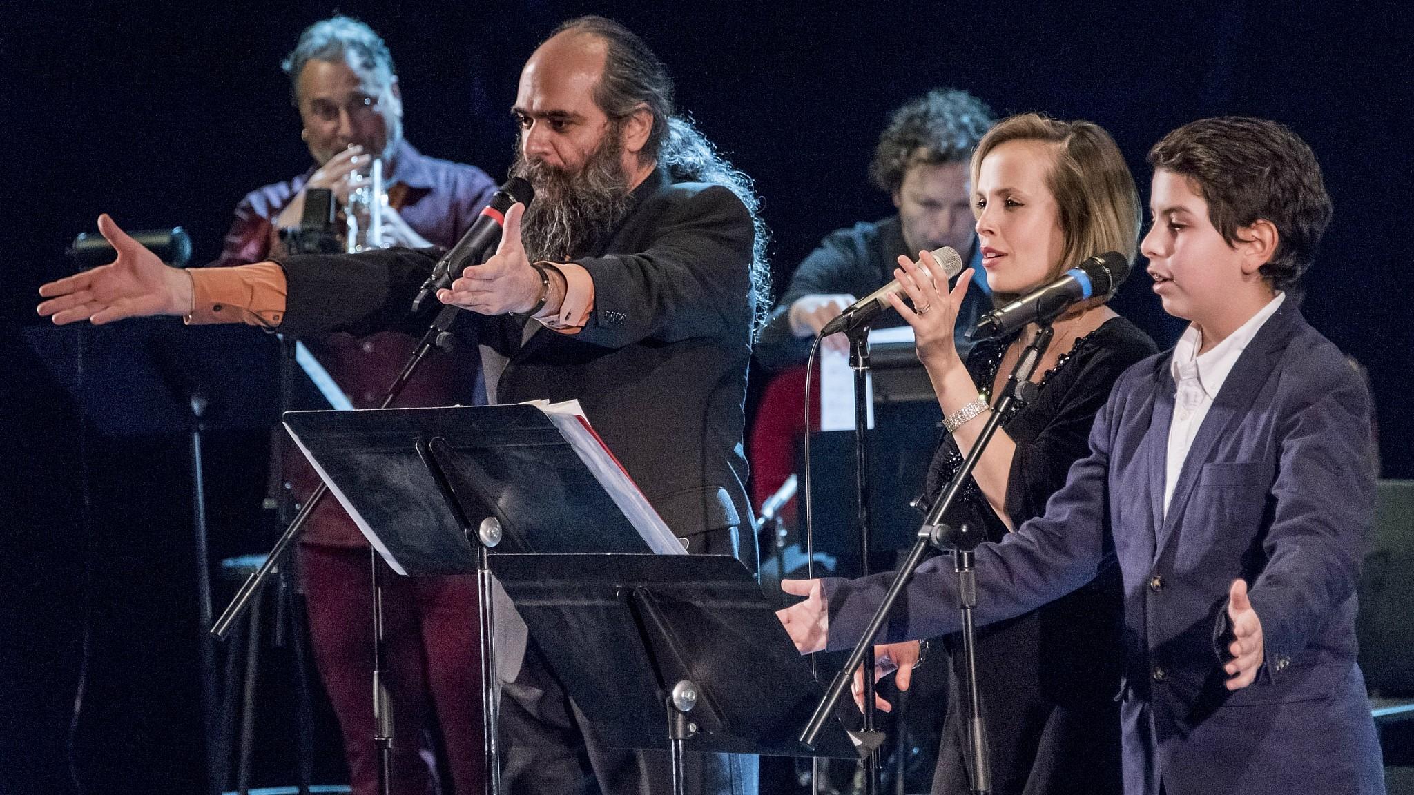 From left: Psoy Korolenko, Sophie Milman and Isaac Rosenberg sing songs from 'Yiddish Glory' (Vladimir Kevorkov)