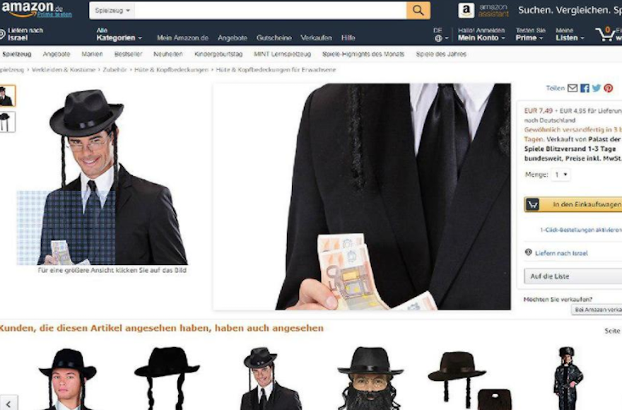 42fa30d41a A picture of a model holding money while wearing a rabbi costume seen on  the Amazon