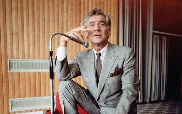 Leonard Bernstein in 1970. (Fox Photos/Hulton Archive/Getty Images/via JTA)