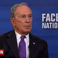 Former New York City mayor Michael Bloomberg speaks on CBS's 'Face the Nation' on April 22, 2018. (Screen capture: YouTube)