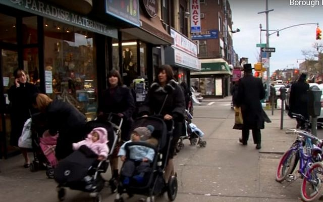 Orthodox Jews in Borough Park, Brooklyn, NY. (YouTube screenshot)