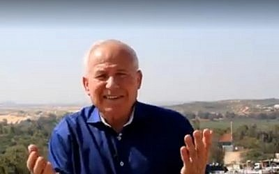 Senior Likud lawmaker and former head of the Shin Bet security services Avi Dichter appeals in Arabic to the residents of Gaza to abandon terror. (YouTube screenshot)