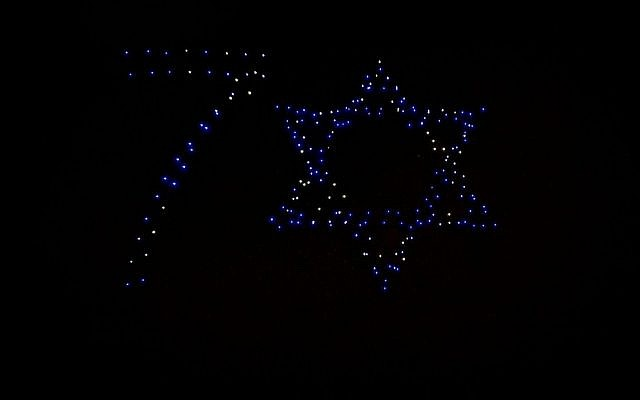 A fleet of 300 Intel drones will light of Jerusalem's skies to celebrate Israel's 70th independence day (Courtesy Intel)