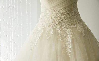 Illustrative: Wedding dress with lace. (iStock)